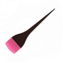 Кисть для окрашивания розовая закруглённая 1шт