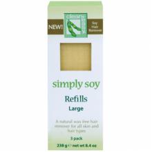 clean+easy Simply Soy Large - Ср-во для эпиляции без воска на основе сои в картушах 80гр