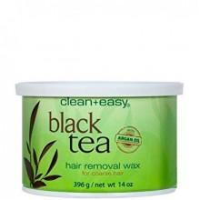"""clean+easy Warm Wax Black tea - Тёплый воск в банке """"Черный чай"""" (для жестких волос), 396гр"""