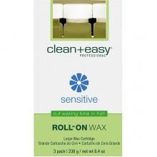 "clean+easy Wax Azulene - Воск в катридже ""Азуленовый"" д/ног 80гр"
