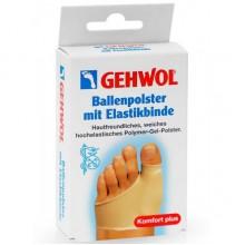 GEHWOL Ballenpolster mit Elasticbinde - Защитная накладка на большой палец из гель-полимера и эластичной ткани 1шт