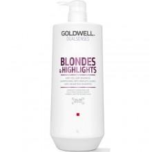 Goldwell Dualsenses Blondes & Highlights Anti-Yellow Shampoo - Шампунь против желтизны для осветленных волос 1000мл