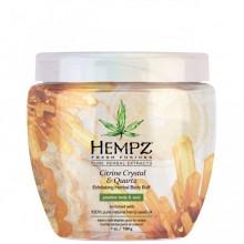 HEMPZ Body Scrub Citrine Crystal & Quartz - Скраб для тела интенсивный с мерцающим эффектом Желтый Кварц 198гр