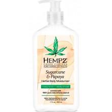 HEMPZ HERBAL Body Moisturizer Sugarcane & Papaya - Молочко для тела Сахарный тростник и Папайя 500мл