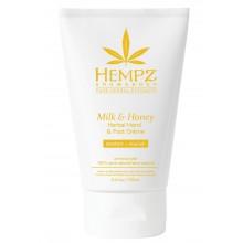 HEMPZ Milk & Honey Herbal Hand & Foot Crème - Крем для рук и ног Молоко и Мёд 100мл
