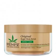 HEMPZ Body Scrub Original Herbal Sugar - Скраб для Тела Увлажняющий 176гр