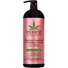 HEMPZ PURE HERBAL Blushing Grapefruit & Raspberry Creme Conditioner - Кондиционер растительный Грейпфрут и Малина для сохранения цвета и блеска окрашенных волос 1000мл