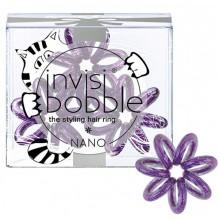 Invisibobble NANO Meow & Ciao - Резинка-браслет для волос, цвет Мерцающий Фиолетовый 3шт