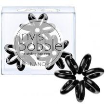 Invisibobble NANO True Black - Резинка-браслет для волос, цвет Черный 3шт