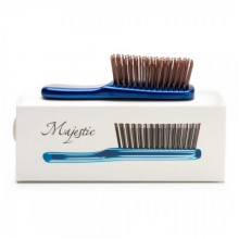 Majestic MINI - Инновационная универсальная расчёска СИНЯЯ для густых волос 284 зубчика
