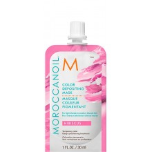 MOROCCANOIL COLOR DEPOSITING MASK HIBISCUS - Маска тонирующая для волос ГИБИСКУС 30мл