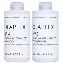 """OLAPLEX No.4 + No.5 Bond Maintenance KIT - Набор """"Система защиты волос"""" шампунь + кондиционер 250 + 250мл"""