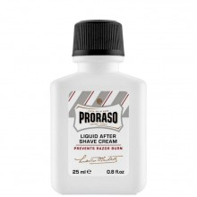 PRORASO WHITE AFTERSHAVE CREAM - Крем после бритья БЕЛЫЙ для чувствительной кожи 25мл