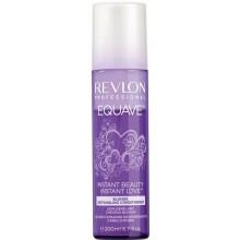 REVLON Professional EQUAVE INSTANT BEAUTY Blonde Detangling Conditioner - Несмываемый 2-х фазный кондиционер для блондированных, обесцвеченных, мелированных и седых волос 200мл