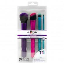Royal&Langnickel MODA COMPLETE KIT - Набор кистей для макияжа в чехле 4шт
