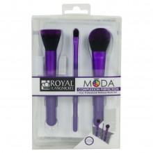 Royal&Langnickel MODA COMPLEXION PURPLE PERFECTION SET - Фиолетовый набор кистей для макияжа лица в чехле 3шт