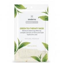 Sesderma BEAUTYTREATS Green tea therapy mask - Маска увлажняющая для лица 25мл