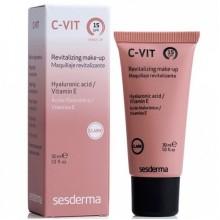 Sesderma C-VIT Revitalizing Make-up SPF 15 - Ревитализирующий тональный крем с СЗФ 15 (Темный тон) 30мл