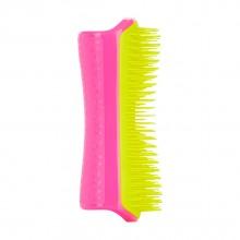 PET TEEZER Detangling & Dog Grooming Brush Pink & Yellow - Расческа для распутывания шерсти РОЗОВЫЙ/ЖЁЛТЫЙ 63 х 150мм