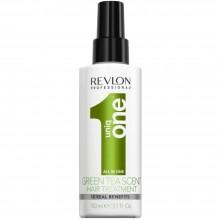 Uniq One HAIR TREATMENT GREEN TEA SCENT Spray - Несмываемая маска-спрей с ароматом Зелёного чая 150мл